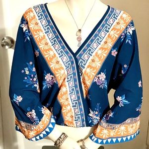 Flying Tomato - Kimono Style - Very cute Top - Med